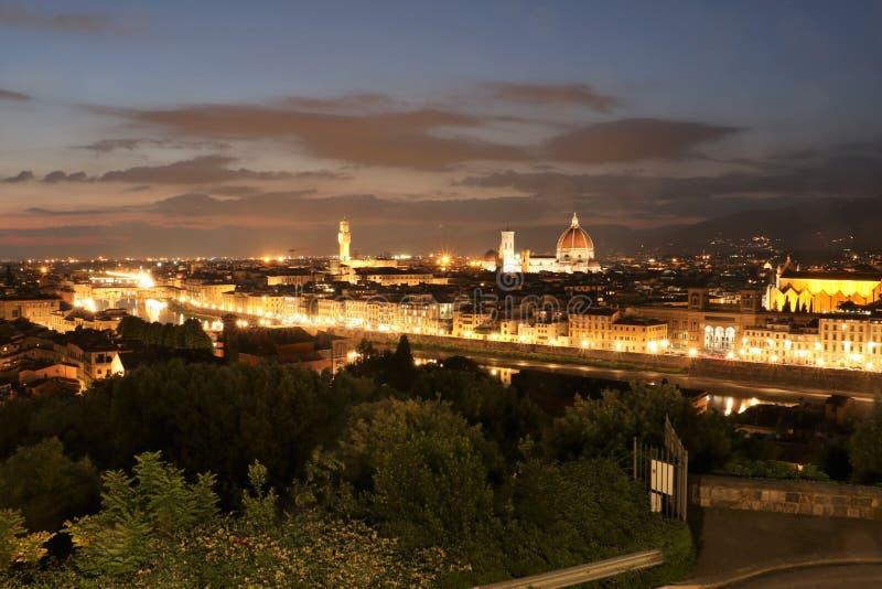 Firenze al crepuscolo immagine stock libera da diritti