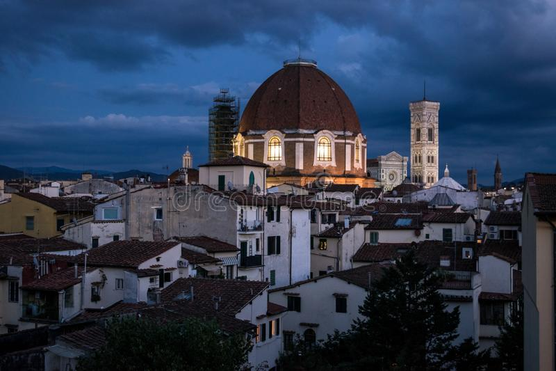 Firenze alla notte immagini stock