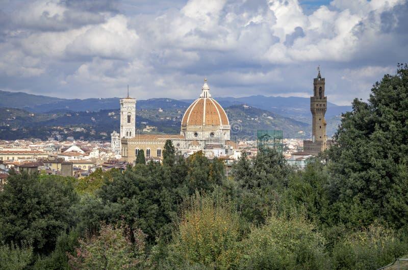 Firenze dal palazzo di Pitti, Firenze fotografie stock