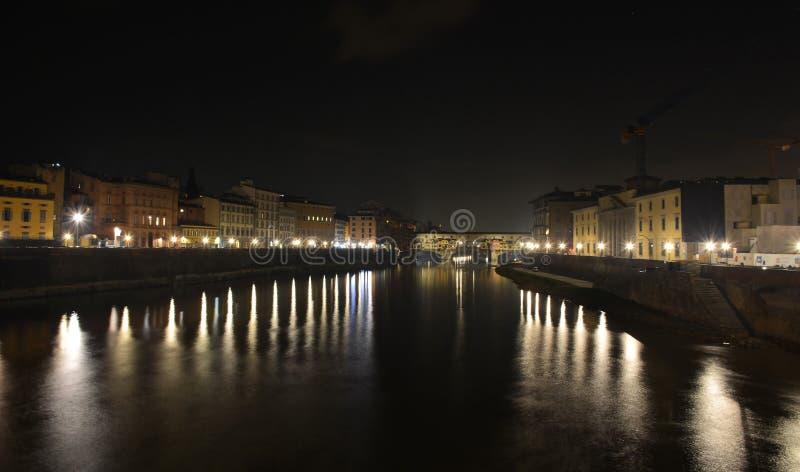 Firenze entro la notte, Italia immagini stock libere da diritti