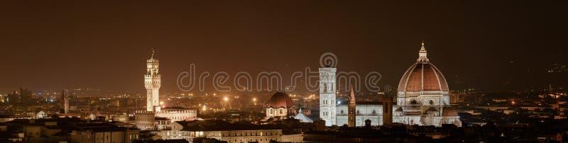 Firenze - Florença na noite fotografia de stock royalty free