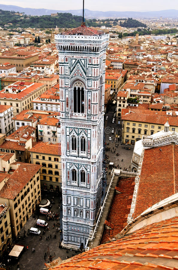 Firenze: Il campanile HDR di Santa Maria del Fiore Giotto fotografie stock libere da diritti