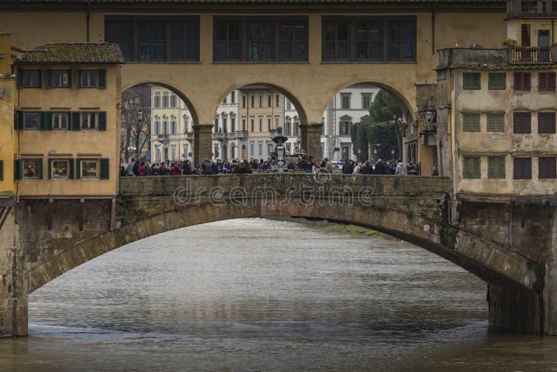 FIRENZE, ITALIA - 7 MARZO: Ponte Ponte Vecchio a Firenze,  immagine stock libera da diritti