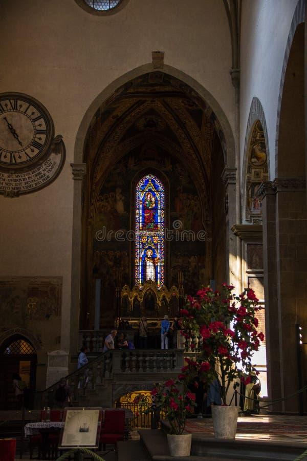 Firenze, Italia - 8 settembre 2017: Chiesa di Santa Maria Novella fotografie stock libere da diritti