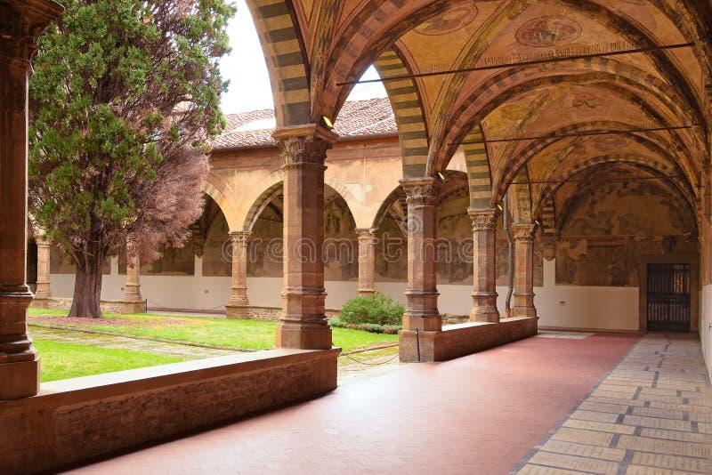 FIRENZE, ITALIA - 19 SETTEMBRE 2017: Giardino Santa Mari del convento immagini stock libere da diritti