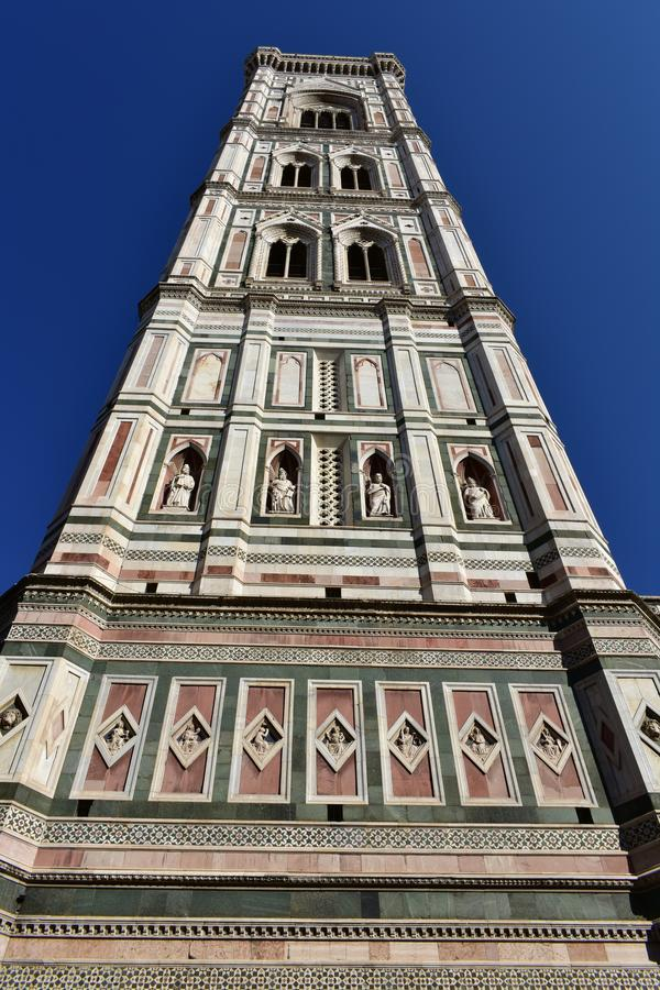 Campanile di Giotto with blue sky. Florence, Italy. royalty free stock photography