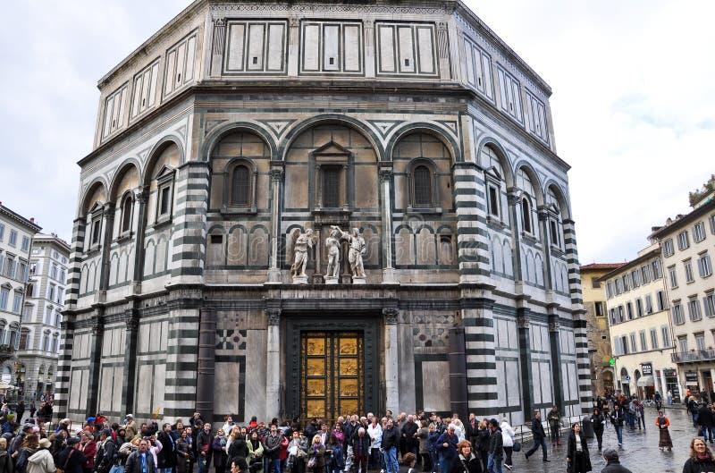 FIRENZE 10 NOVEMBRE: St Giovanni Baptistery novembre 10,2010 a Firenze, Italia. fotografie stock libere da diritti
