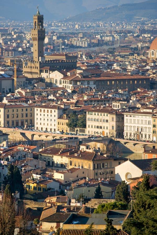 Firenze, Palazzo Vecchio, della Signoria della piazza. fotografie stock libere da diritti