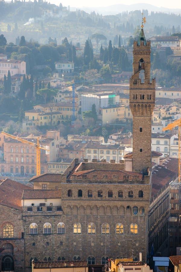 Firenze, Palazzo Vecchio, della Signoria della piazza. fotografie stock