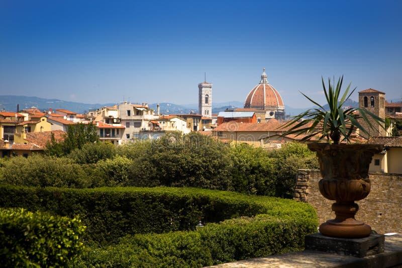 Firenze panoramic cityscape stock image
