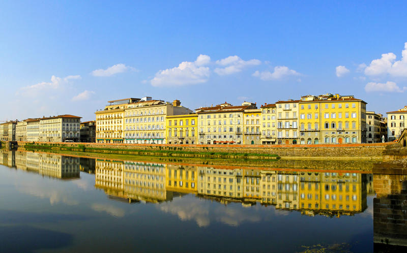 Firenze piena di sole fotografia stock