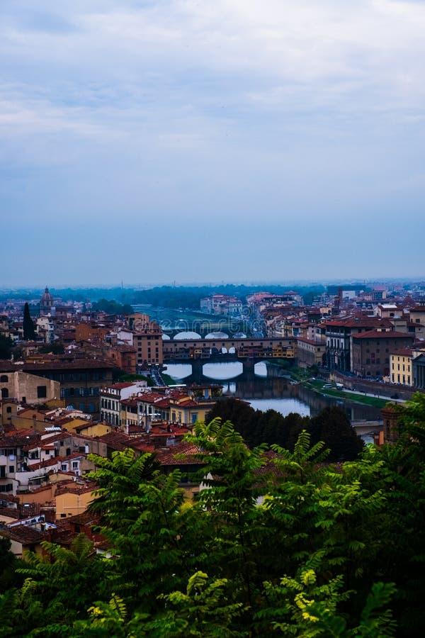 Firenze som är panorama- i Piazzale Michelangelo royaltyfri bild