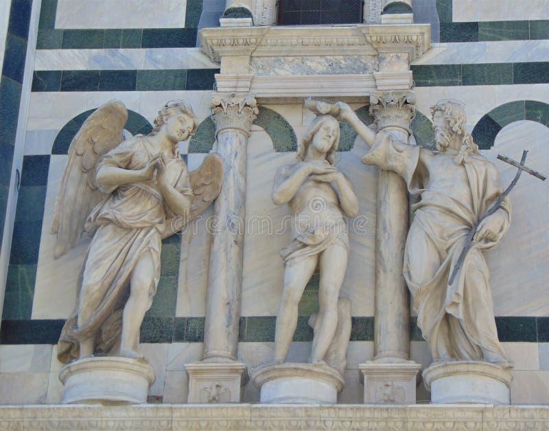 Firenze Toscana Italia Il battistero di St John a Piazza del Duomo immagini stock libere da diritti