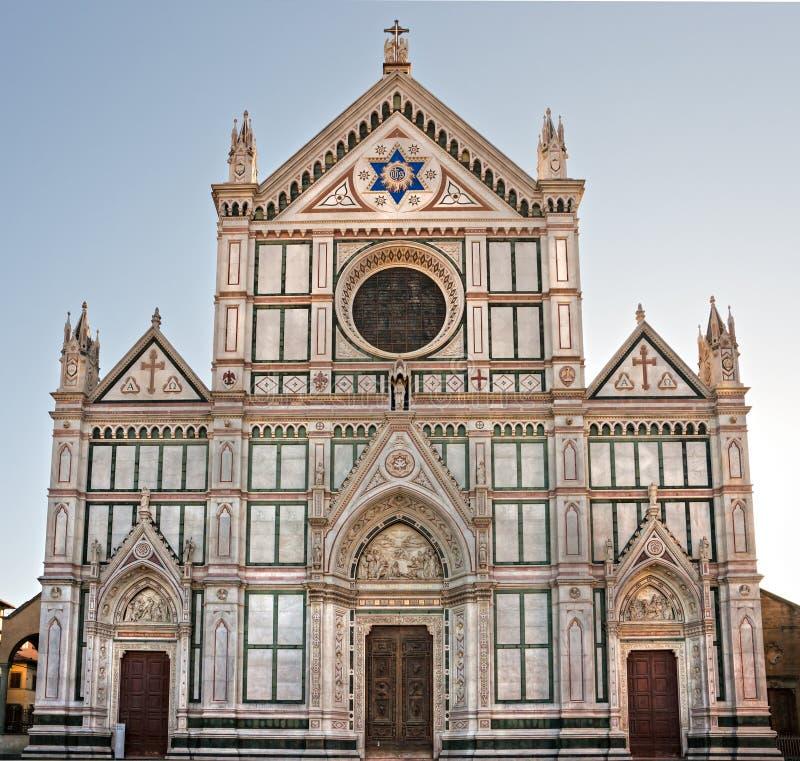 Firenze, vista della chiesa del Santa Croce. fotografia stock libera da diritti