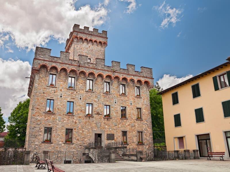 Firenzuola - palazzopretorio stock foto