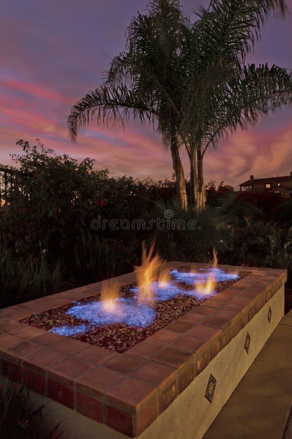 Firepit, Backyard, Luxury Living royalty free stock photos
