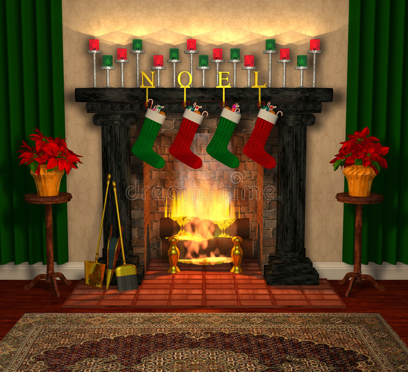 Download Fireplace_02 stock illustration. Image of logs, holiday - 3247299