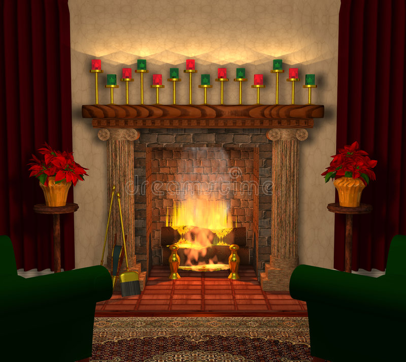 Fireplace_03 illustration libre de droits
