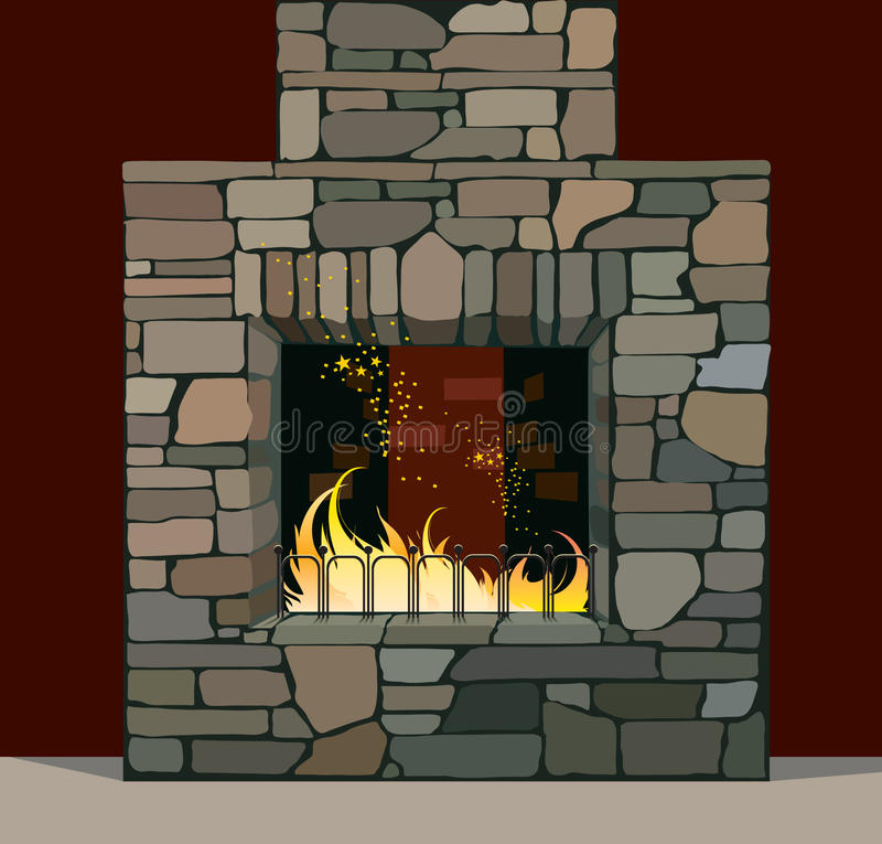 Download Fireplace stock vector. Image of home, seed, seedbed - 13792275