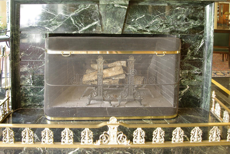 Download Fireplace stock photo. Image of screen, marble, interior - 14852776