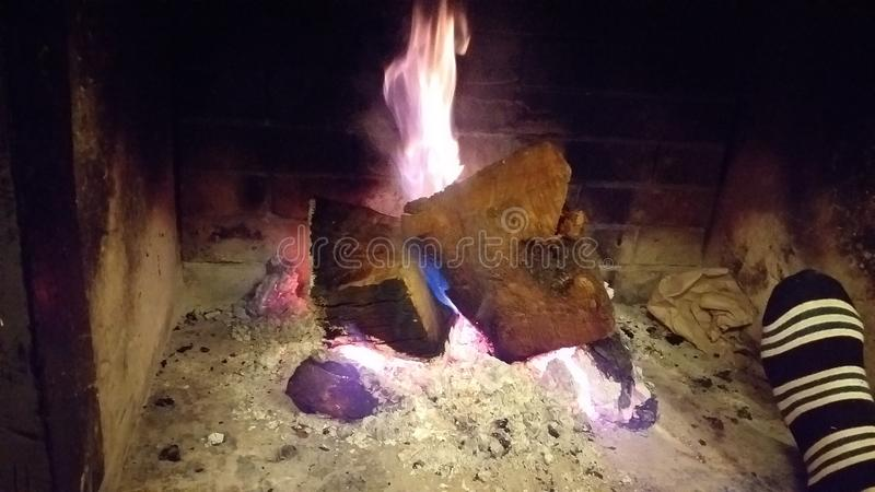 Fireplace royalty-vrije stock afbeelding