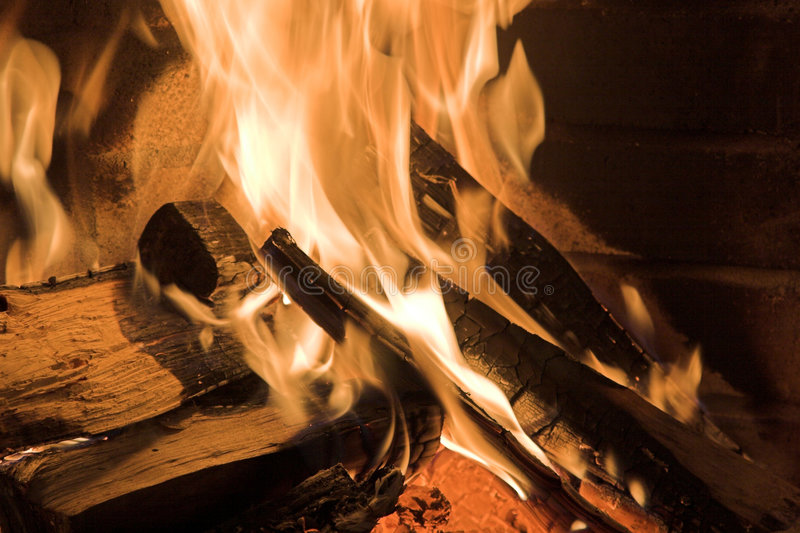 Download Fireplace stock image. Image of flames, home, logs, carbon - 1700039