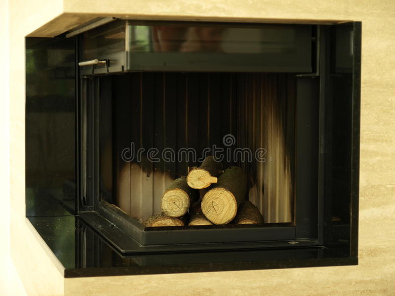 Download Fireplace stock photo. Image of flames, place, loaded - 24982414