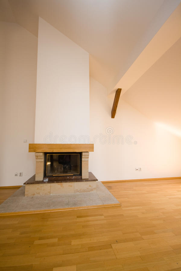 Download Fireplace stock image. Image of modern, wooden, indoor - 26924091
