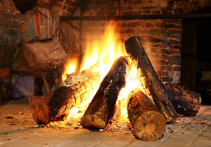 Download Fireplace stock image. Image of fire, flame, room, warm - 27394681