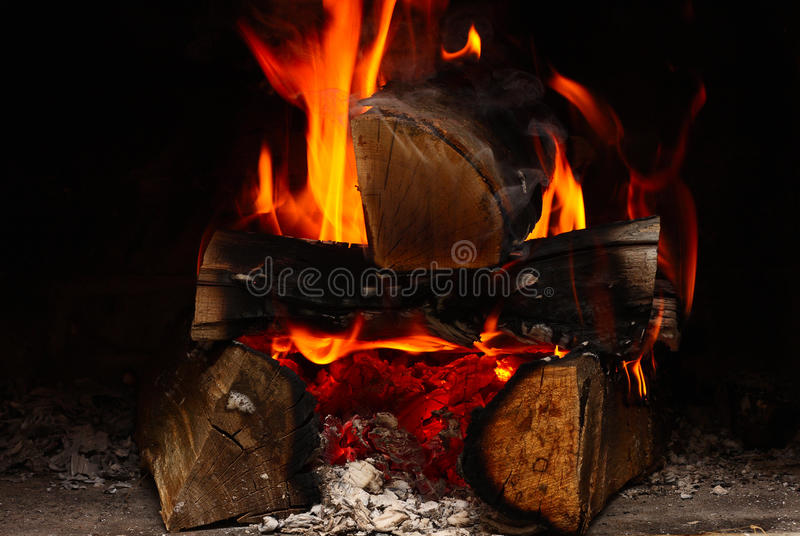 Download Fireplace stock image. Image of fiery, indoors, fire - 27626763