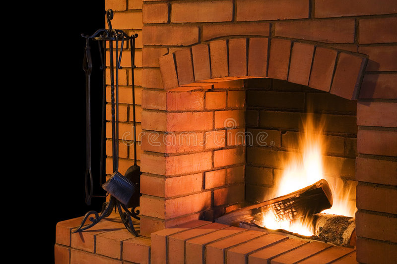 Fireplace stock image