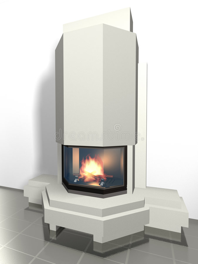 Fireplace vector illustration