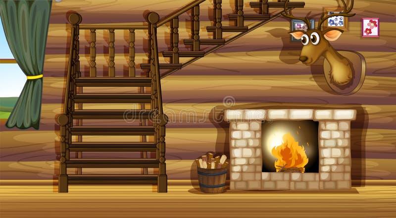 fireplace ilustração do vetor