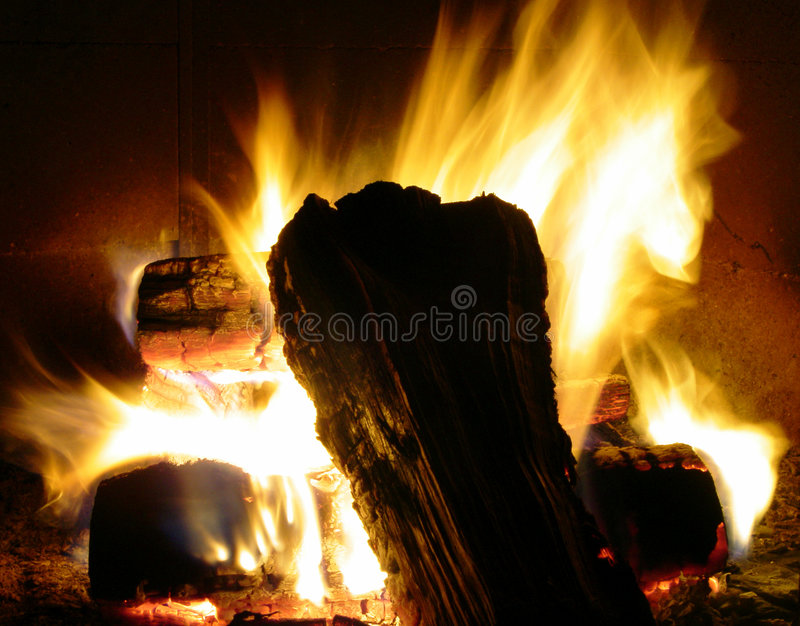 Download Fireplace stock image. Image of long, logs, fierce, coal - 467401