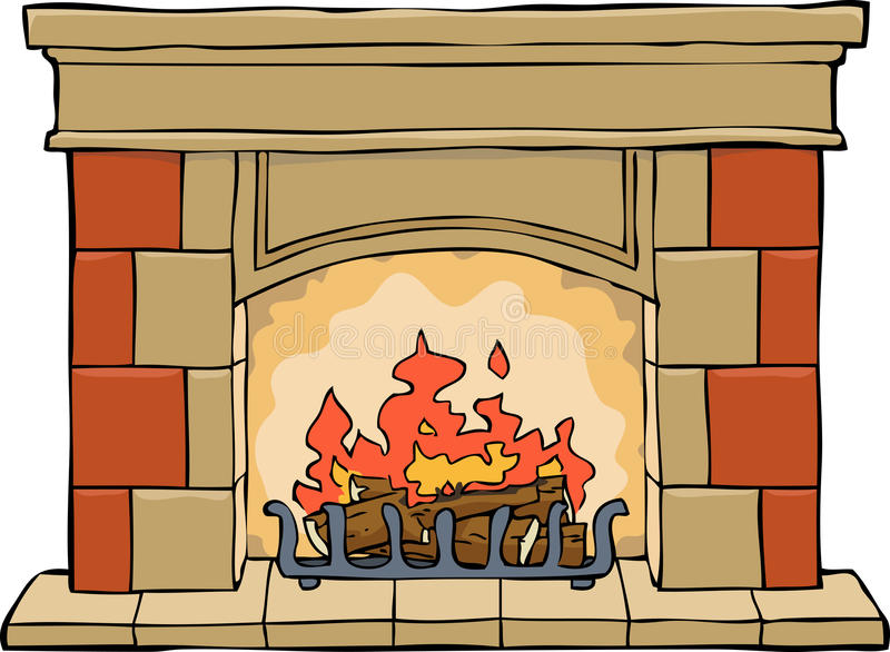 fireplace ilustração stock