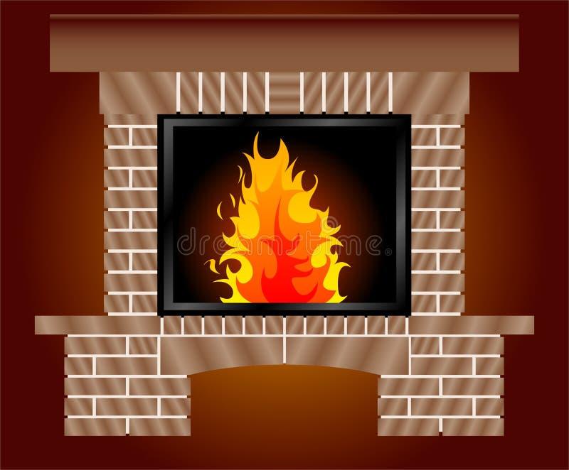 Download Fireplace stock illustration. Illustration of heating - 6577520