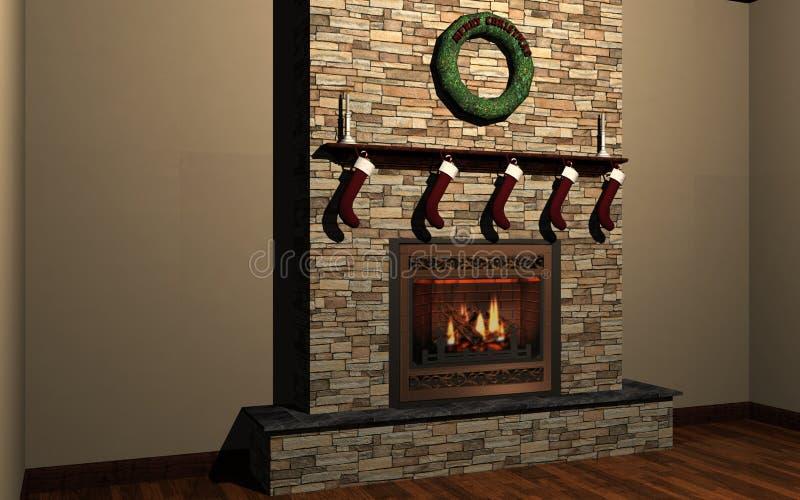 Download Fireplace stock illustration. Image of indoor, socking - 7314602