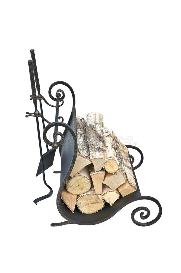 Fireplace accessories stock photos