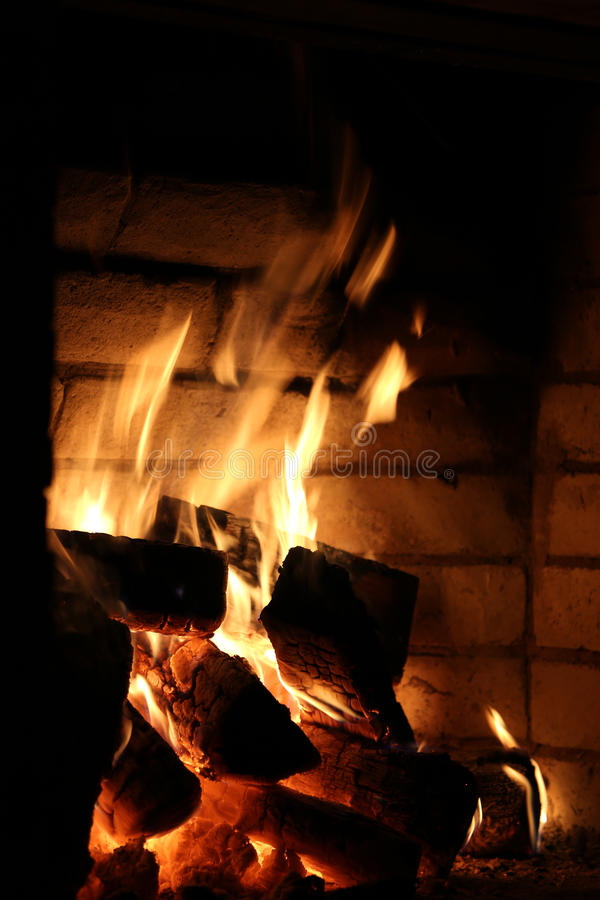 Download Fireplace stock photo. Image of fireplace, firewood, flame - 30376132