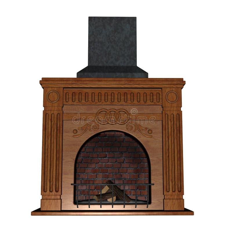 Fireplace - 3D render vector illustration