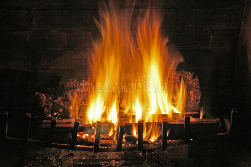 Fireplace Fire royalty free stock photo