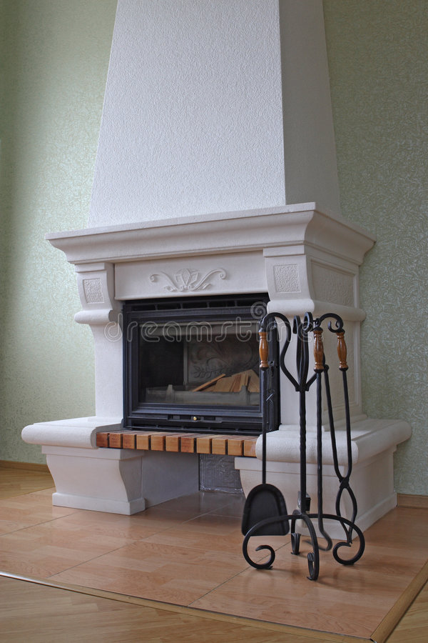 Download Fireplace without fire stock image. Image of room, fireplace - 3230017