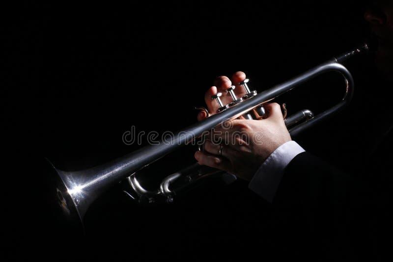 Fireplace, trumpet, music royalty free stock photos