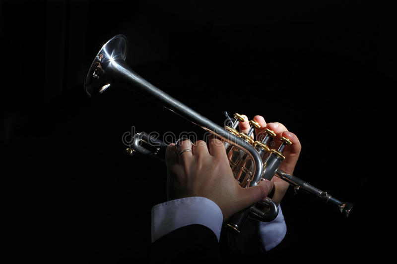Fireplace, trumpet, music royalty free stock images