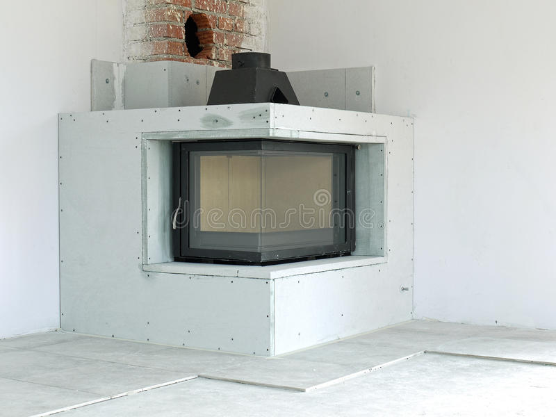 Download Fireplace Under Construction Stock Photo - Image: 24274846