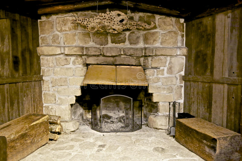Fireplace wood royalty free stock photography