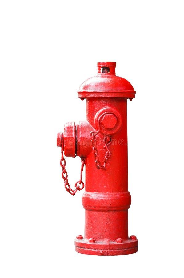 Fireplug vermelho isolado no branco fotos de stock