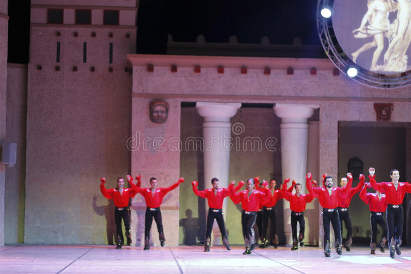 Download Fires Of Anatolia. Performance In The Amphitheater Of Anatolia. Editorial Stock Image - Image: 36646619