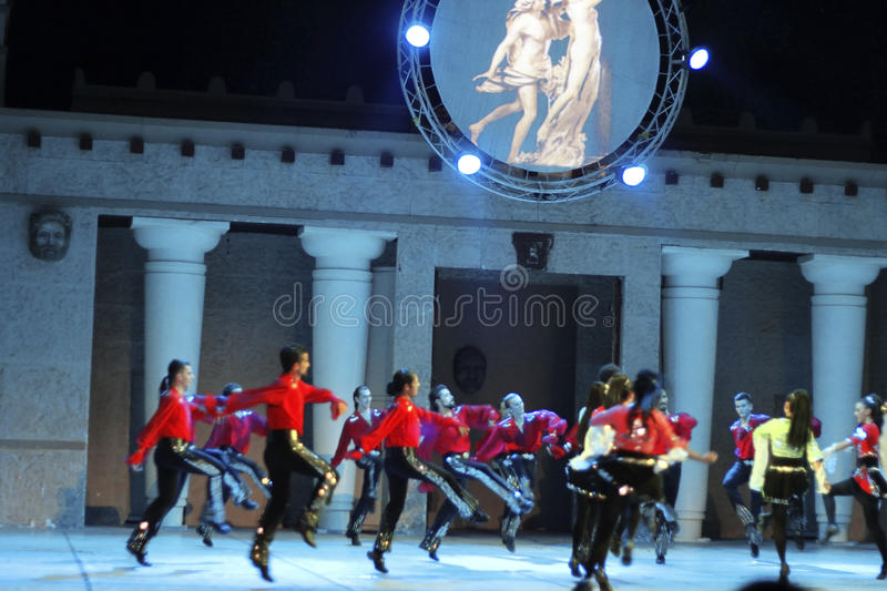 Download Fires Of Anatolia. Performance In The Amphitheater Of Anatolia. Editorial Image - Image: 36890750