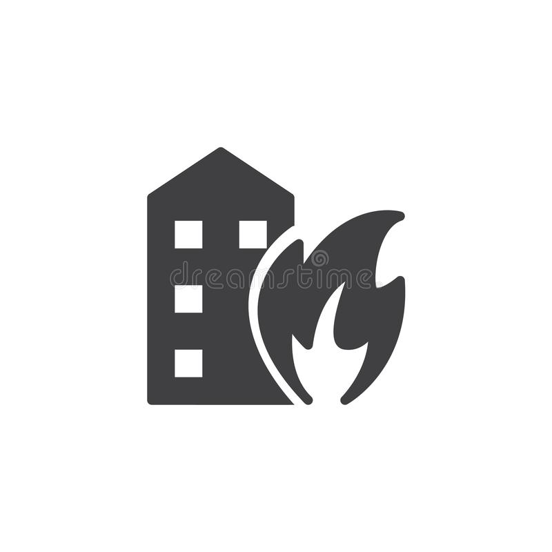 Fires icon vector. Filled flat sign, solid pictogram isolated on white. Symbol, logo illustration royalty free illustration